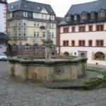 Brunnen auf dem Marktplatz Pößneck